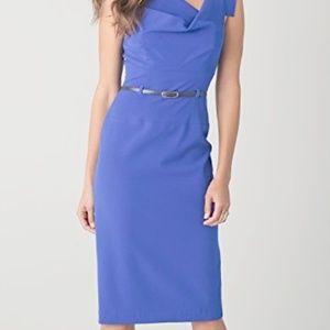 Black Halo Jackie O Midi Dress Celeb Fave Blue